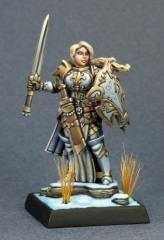 Trista, the White Wolf - Female Warrior