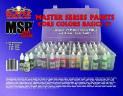 Master Series Paint Core Colors Basics Set #1 (09001-09054 w/Caddy)