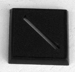 """1"""" Square Slotted Plastic Bases"""