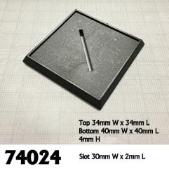40mm Square Slotted Plastic Bases