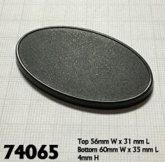 60x35mm Oval Gaming Bases