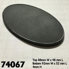 90x52mm Oval Gaming Bases