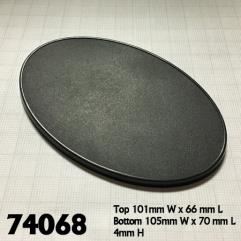 105mm x70mm Oval Gaming Bases