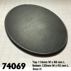 120mm x 92mm Oval Gaming Base