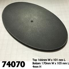 170mm x 105mm Oval Gaming Bases