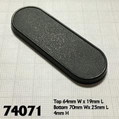 70x25mm Oval Gaming Base
