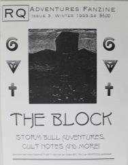 "#3 ""The Block, Storm Bull Adventures, Cult Notes"""