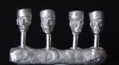 Spanish Heads in Pillbox Cap