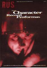 Character Record Proformas