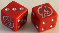 Avengers Dice Set - Red w/Silver (2)
