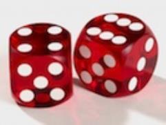 12.5mm Precision Backgammon - Dark Red w/White (2)