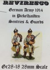 1914 German Army in Pickelhauben - Sentries & Guards (28mm)