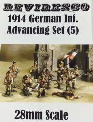 1914 German Inf. Advancing Set (28mm)