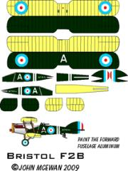 Bristol F.2B Decal Set - I.D. Letter A (1:144)