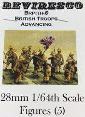 British Troops w/Pith Helmets - Advancing (28mm)