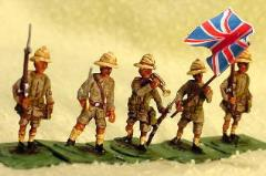British Troops w/Pith Helmets - Color Party (28mm)