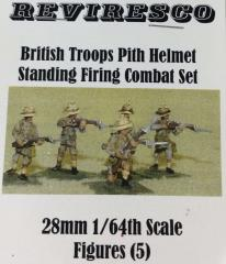 British Troops w/Pith Helmets - Standing Firing Combat Set (28mm)