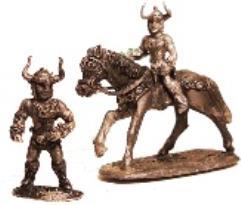 Barbarian Hero w/Horned Helmet