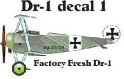 Fokker DR-1 Decal Set 1 (1:144)