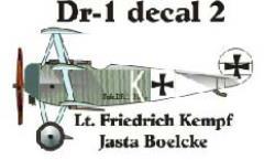 Fokker DR-1 Decal Set 2 (1:144)