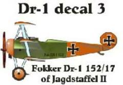 Fokker DR-1 Decal Set 3 (1:144)