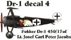 Fokker DR-1 Decal Set 4 (1:144)