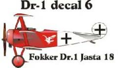 Fokker DR-1 Decal Set 6 (1:144)