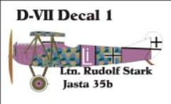 Fokker D-VII Decal Set 1 (1:144)
