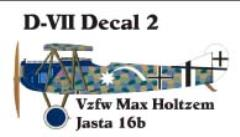 Fokker D-VII Decal Set 2 (1:144)