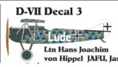 Fokker D-VII Decal Set 3 (1:144)