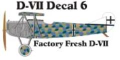 Fokker D-VII Decal Set 6 (1:144)