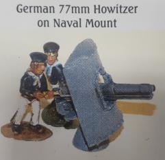 German 77mm Howitzer on Naval Mount