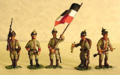 German Army 1914 in Pickelhauben Color Party (28mm)