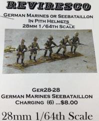 German Marines/Seebataillon Charging (28mm)