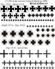 German Markings WWI Decal Sheet (1:144)
