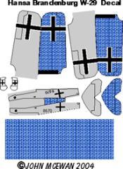 Hansa Brandenburg W-29 Decal Set (1:144)