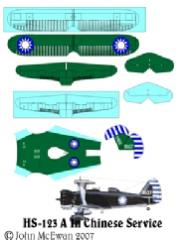 HS-123 Decal Set - Chinese Service (1:144)