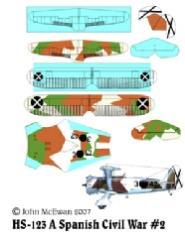 HS-123 Decal Set - Spanish Civil War #2 (1:144)