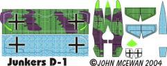Junkers D-1 Decal Sheet (1:144)