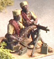King's African Rifles Machine Gun Team (28mm)