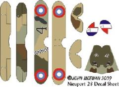 Nieuport 28 Decal Set (1:144)