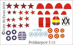 Polikarpov I-15 Decal Set (1:144)