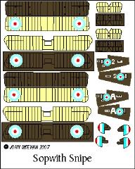 Sopwith Snipe Decal Set (1:144)