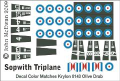 Sopwith Triplane Decal Set (1:144)
