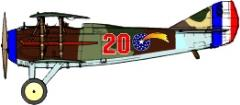 Spad XIII Decal Set 2 - 22nd Aero Squadron (1:144)