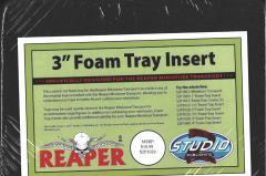 """3"""" Foam Tray"""
