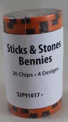 Sticks & Stones Bennies (20)