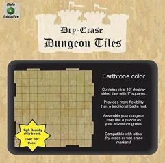 "Dry Erase Dungeon Tiles - Earthtone Color - 10"" (9)"