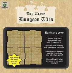 "Dry Erase Dungeon Tiles - Earthtone Color - 5"" (36)"