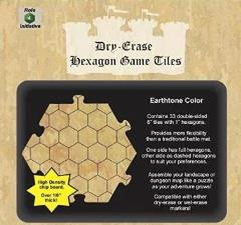 "Dry Erase Dungeon Tiles - Earthtone Color - 6"" (33)"